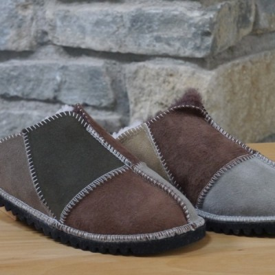 Sheepskin Mules in Muted Colours