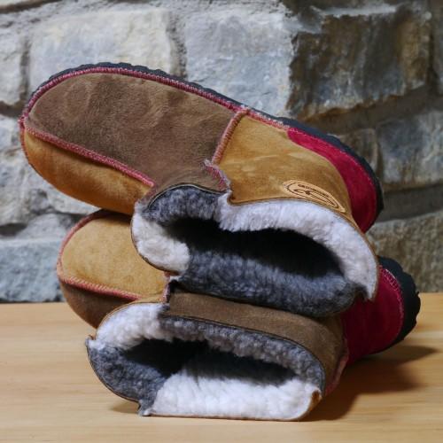 Sheepskin Boots in Bark & Spice