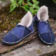 Sheepskin Slippers in Indigo & Slate