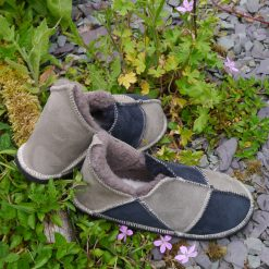 Sheepskin Slippers in Slate & Vole