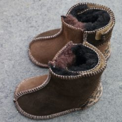 Baby Sheepskin Boots In Coffee & Mocca