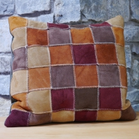 Sheepskin Cushion in autumn colours