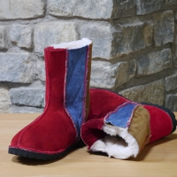 Wildside red spice & denim sheepskin