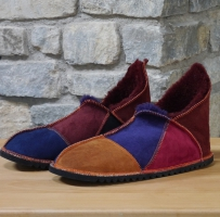 Slippers in Ginger, Merlot, Purple & Wine Sheepskin size 12