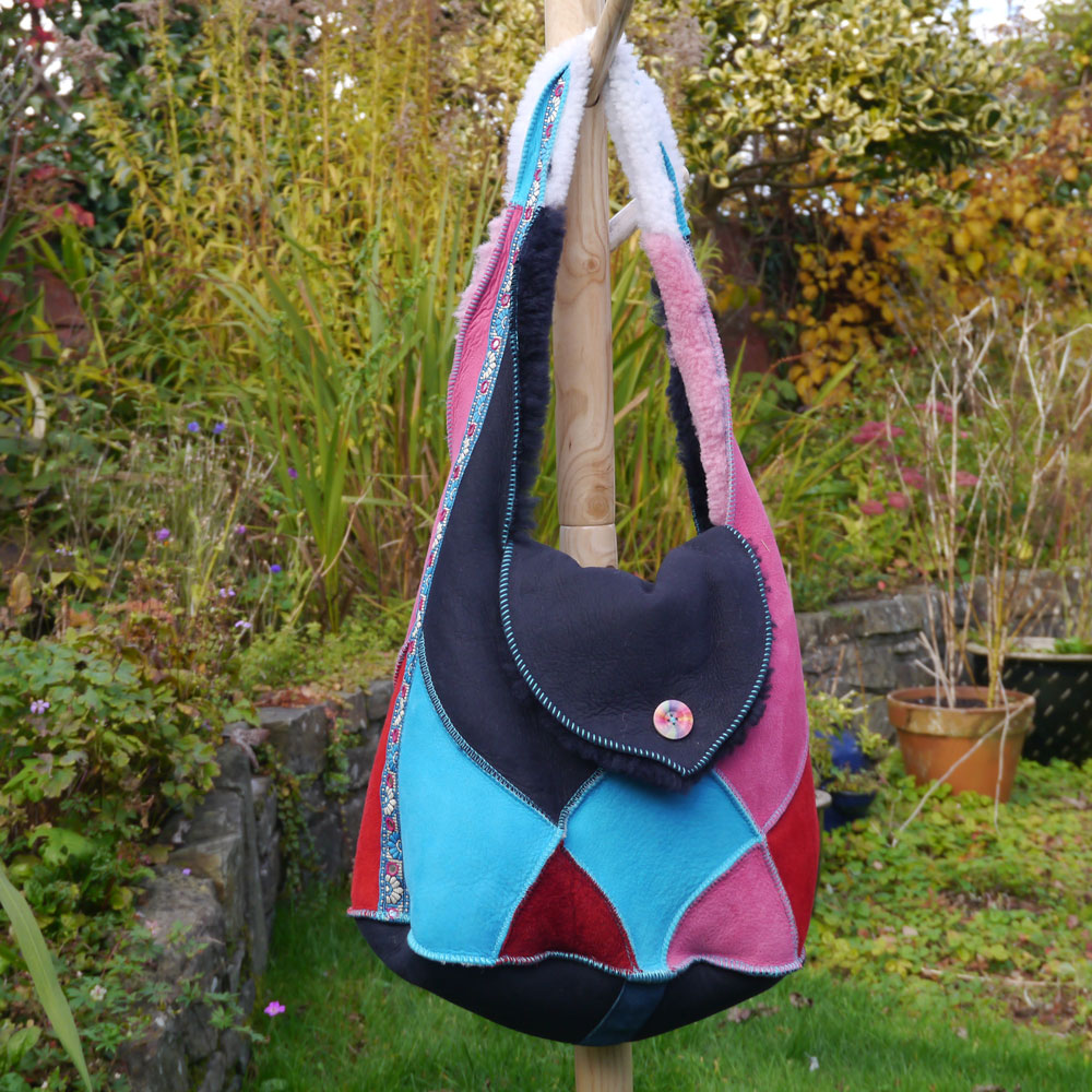 Sheepskin Bag in Bright Colours