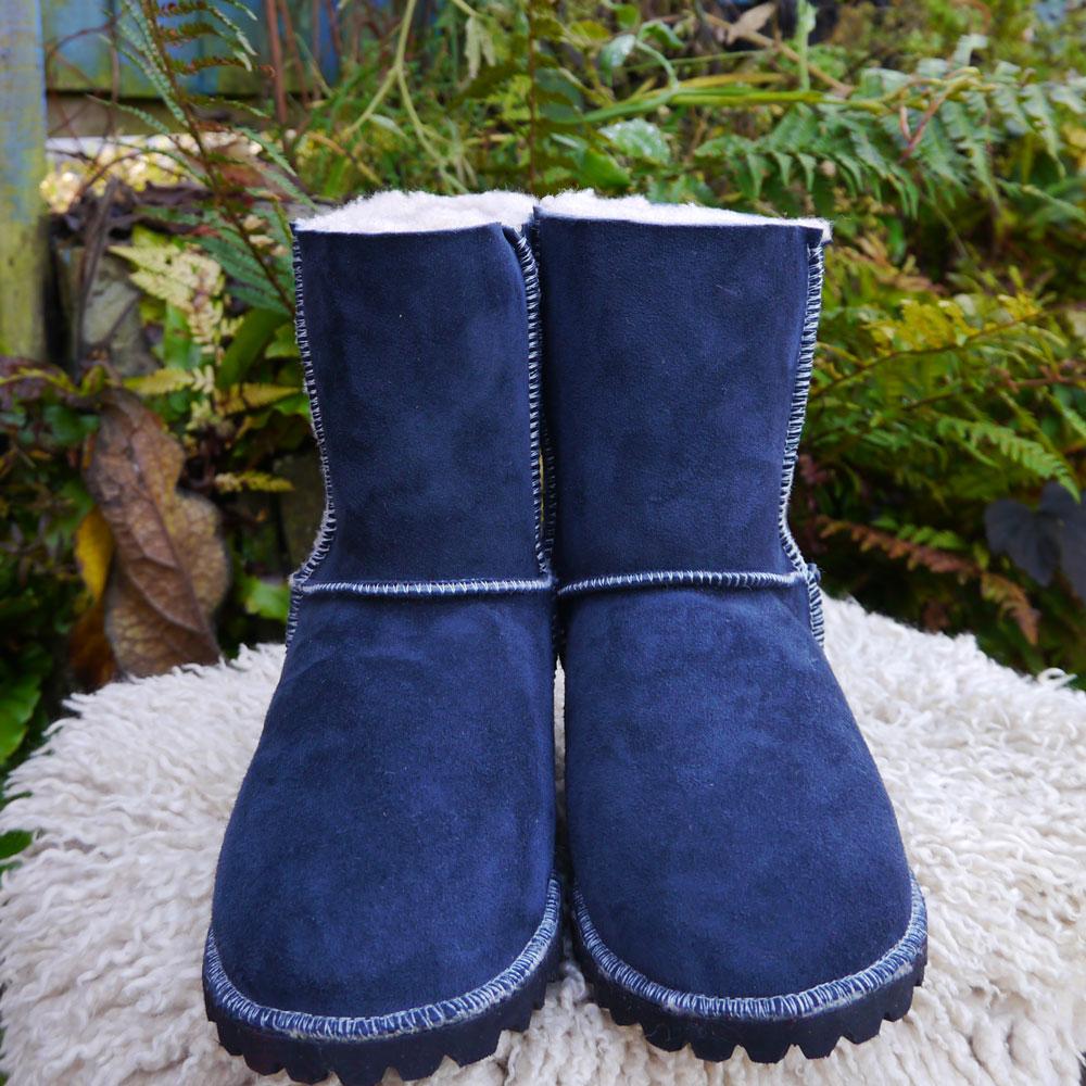 Sheepskin Boots in Slate