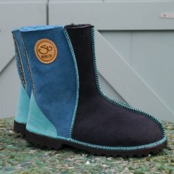 Sheepskin Boots in Indigo & Ocean