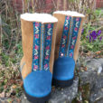 Sheepskin Boots in Spice