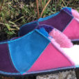Sheepsskin-Mules-in-Navy-ocean-pink-&-purple-size-9
