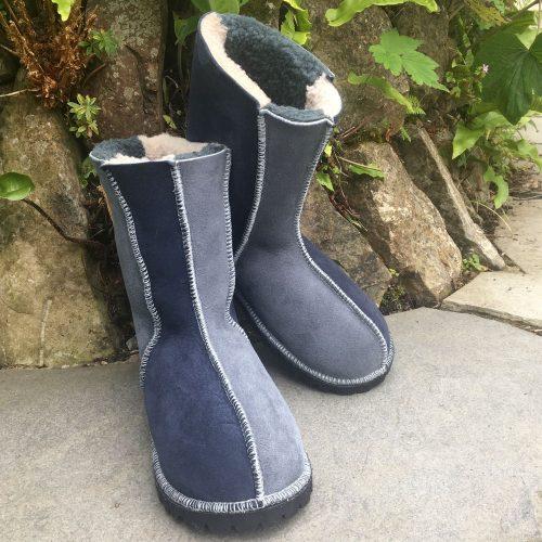 Sheepskin Boots Grey & Slate