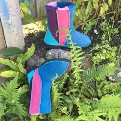 Sheepskin Boots Pink Purple Ocean