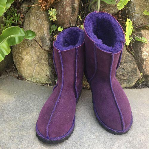 Sheepskin Boots Purple