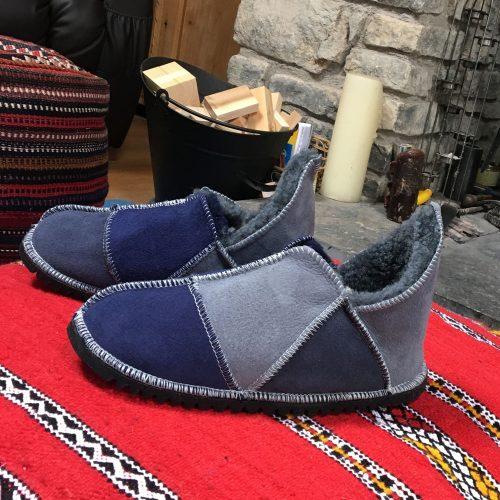 Grey Sheepskin Slippers size 8