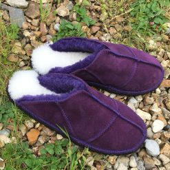 Sheepskin Slippers Purple made UK