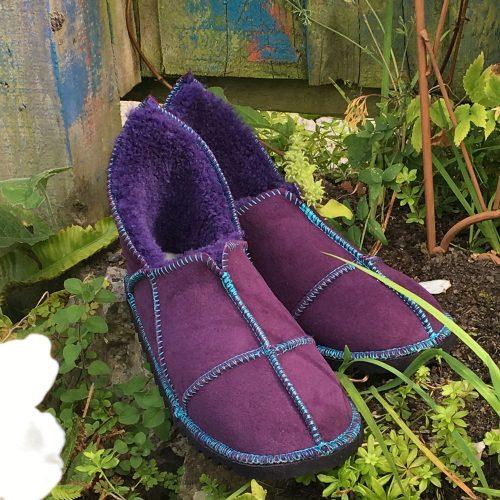 n Slippers Purple made in UK