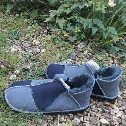 Men's Sheepskin Slippers Grey Slate