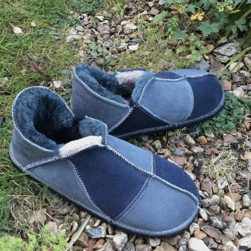 Men's Sheepskin Slippers Grey Slate