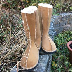 Sheepskin Boots Calf Height Spice Leopard