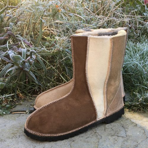 Sheepskin Boots Wildside Bark Biscuit Oatmeal