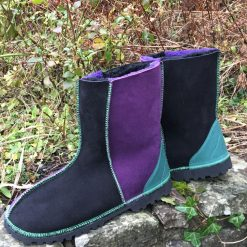Sheepskin Black & Purple