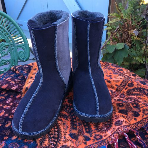 Sheepskin Boots Grey Indigo