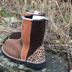 Sheepskin Boots Wildside Bark Ginger & Mocca