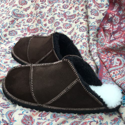 Sheepskin Slippers Mules Mocca