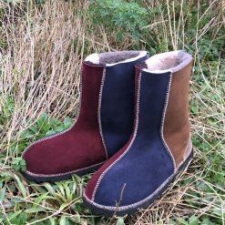 Sheepskin Boots Damson Slate Bark