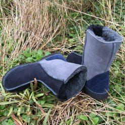 Sheepskin Boots Indigo Grey