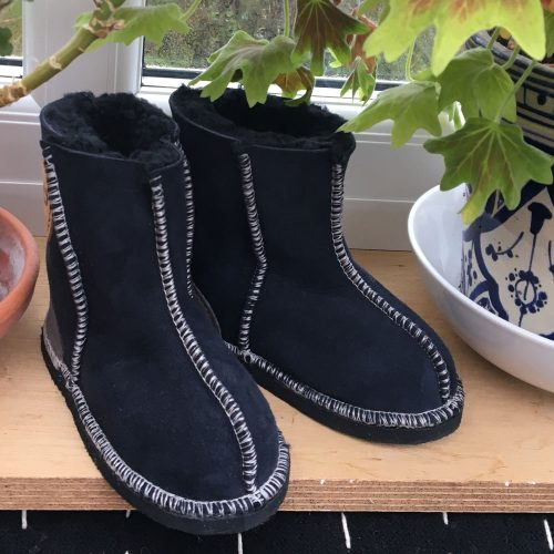 Kid's Sheepskin Boots Indigo