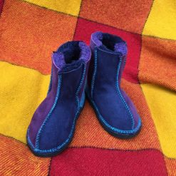 Kid's Sheepskin Boots Navy Purple