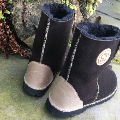 Sheepskin Boots Water Resistant Mocca
