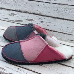 Women's Sheepskin Slippers Grey Pink