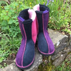 Sheepskin Boots Pink Purple Indigo