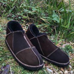 Mens Brown Sheepskin Slippers