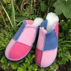 Ladies' Sheepskin Slippers Pink Denim