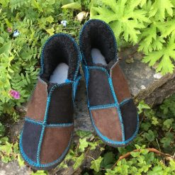 Sheepskin Slippers Black Mocca Ocean
