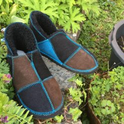 Sheepskin Slippers Black Mocca Ocean