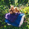 Sheepskin Sit-Upon Purple