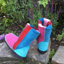 Sheepskin Boots Pink Blue Red