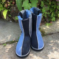 Sheepskin Boots grey indigo denim