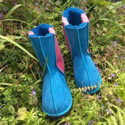 Sheepskin Boots Pink & Ocean