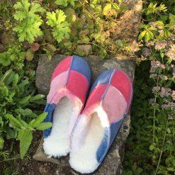 Sheepskin Slippers Pinks Denim