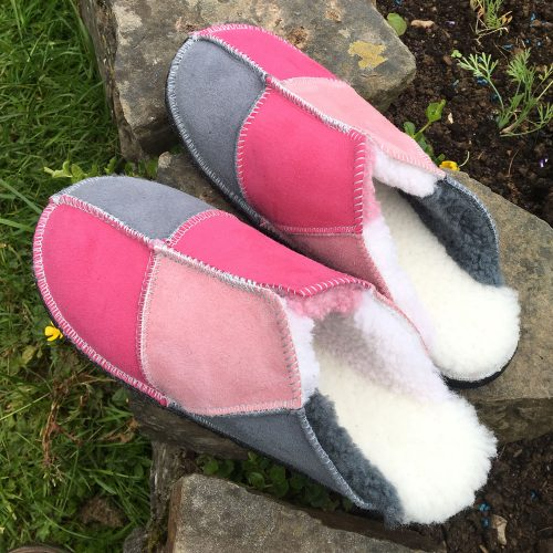 Sheepskin Slippers pick 'n grey