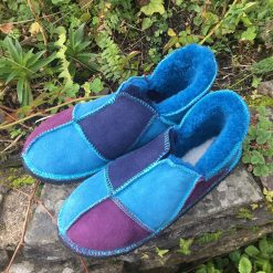 Sheepskin Slippers Purple & Blues