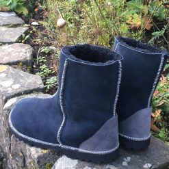 Men's Sheepskin Boots Navy