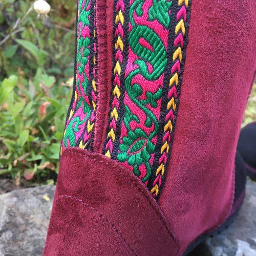 Sheepskin-Boots-Black-Wine-Embroidery.