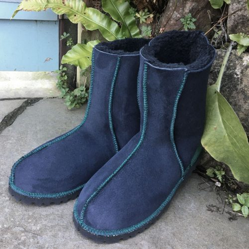 Native American Embroidered Sheepskin Boots