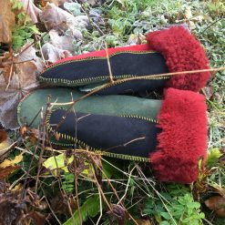 Sheepskin Mittens in Rasta Colours
