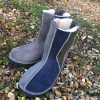Sheepskin Boots Grey Navy Willow
